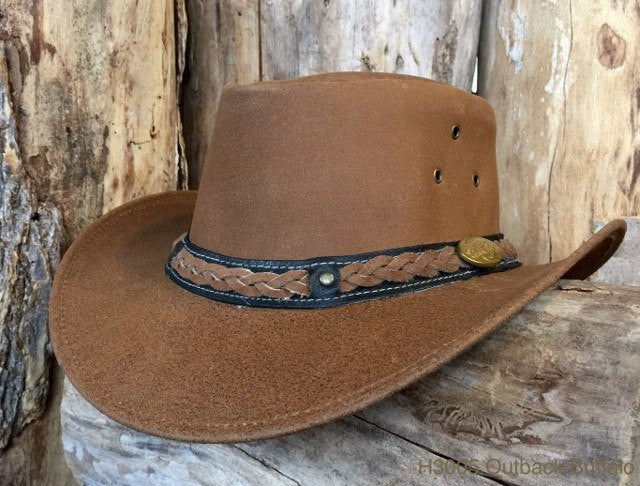 Outback Survival Gear - Buffalo Hat in Cognac (H3005) - Saratoga Saddlery & International Boutiques