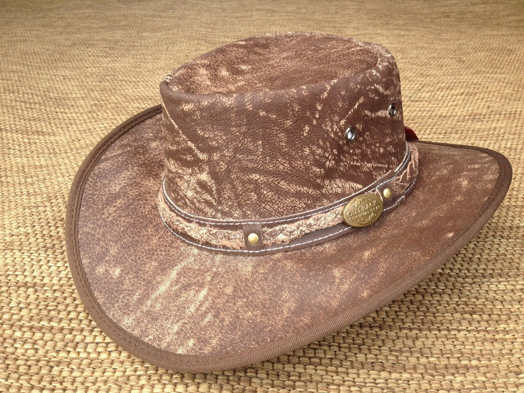 Outback Survival Gear Pindari Goat Hat H8001 Coffee Rock - Saratoga Saddlery