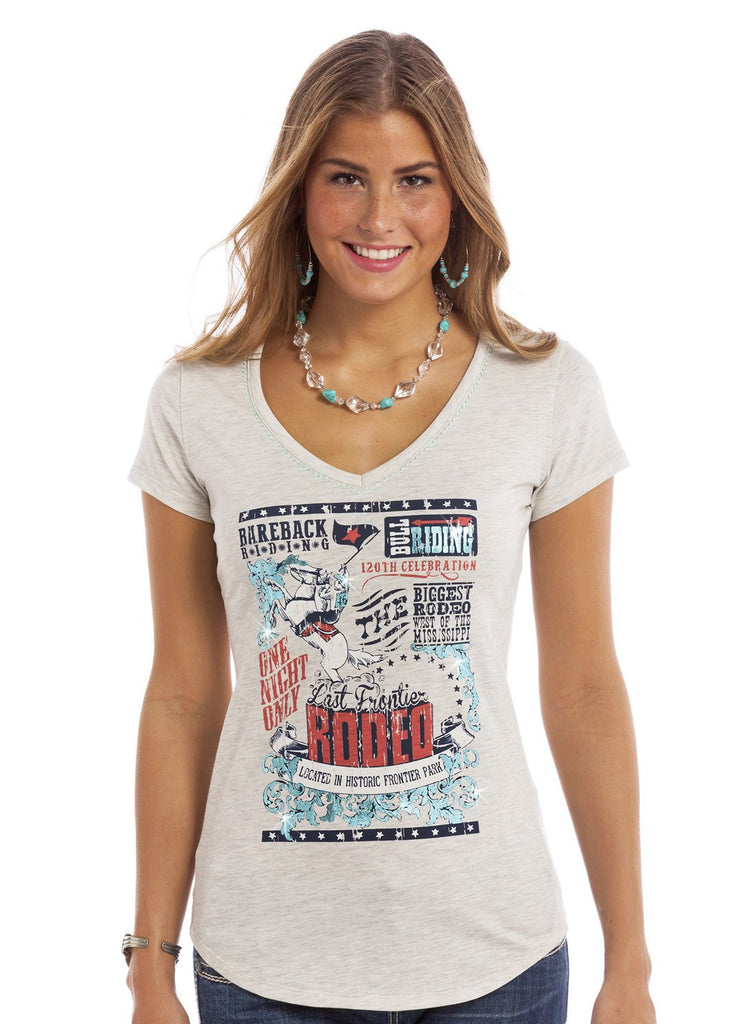 Panhandle Slim Ladies Vintage Rodeo Tee L9T7543 - Saratoga Saddlery