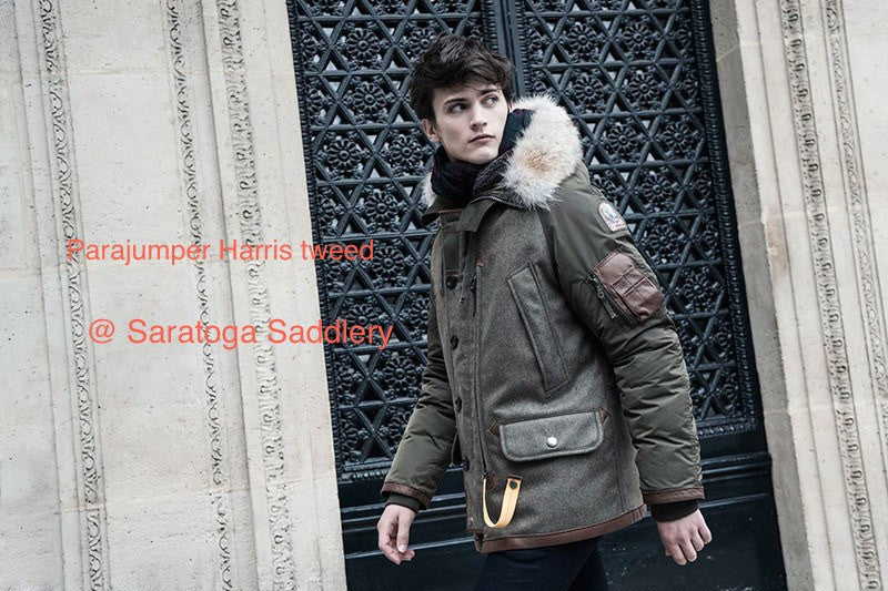 Parajumpers Men's Harris Tweed Coat - LAST ONE 40% OFF ON SALE! - Saratoga Saddlery & International Boutiques