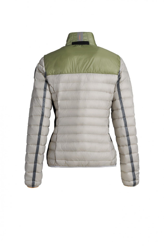Parajumpers Women's Kochi Down Jacket in Silver & Kiwi ON SALE! - Saratoga Saddlery & International Boutiques