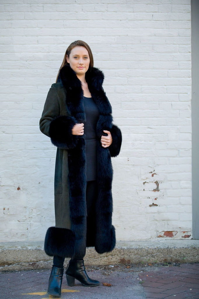 Artico Women's Black Fox Shearling Coat Made in Italy ON SALE NOW! - Saratoga Saddlery & International Boutiques