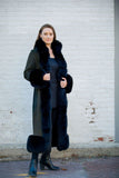 Artico Women's Black Fox Shearling Coat Made in Italy - Saratoga Saddlery & International Boutiques