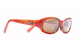 Maui Jim Punchbowl Women's Sunglasses in Tortoise with Pink Lens