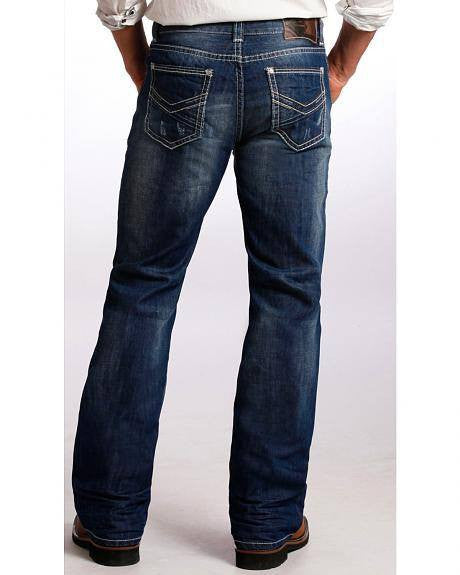 Rock & Roll Cowboy Men's Double Barrel Jeans - Saratoga Saddlery