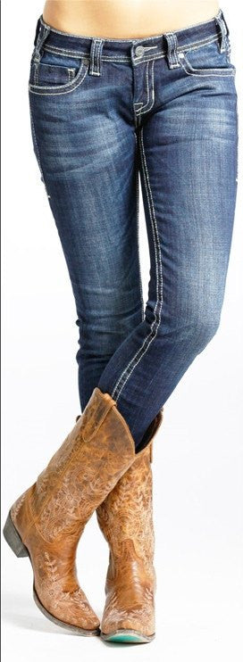 Rock & Roll Cowgirl Low Rise Skinny Jeans - Saratoga Saddlery
