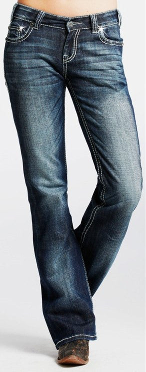 Rock & Roll Cowgirl Riding Boot Cut Jeans - Saratoga Saddlery