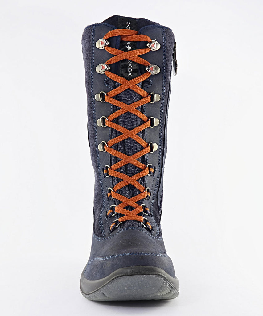 Santana Canada Tourismo Navy And Rust Boot ON SALE! - Saratoga Saddlery & International Boutiques