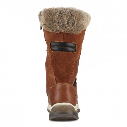 Santana Canada Women's Luxury Winter Boot Marinda in Cognac Made in Italy - Saratoga Saddlery & International Boutiques