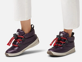 Sorel Women's Waterproof Sneaker Out N About Puffy Lace Dark Plum - Saratoga Saddlery & International Boutiques
