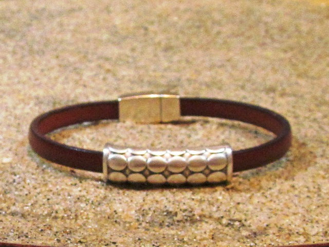 Lilly's Allure Bubble Tube Leather Bracelet