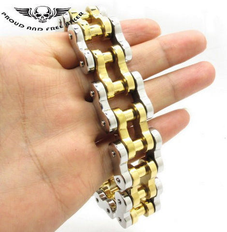 HEAVY CHAIN BRACELET - SILVER & GOLD