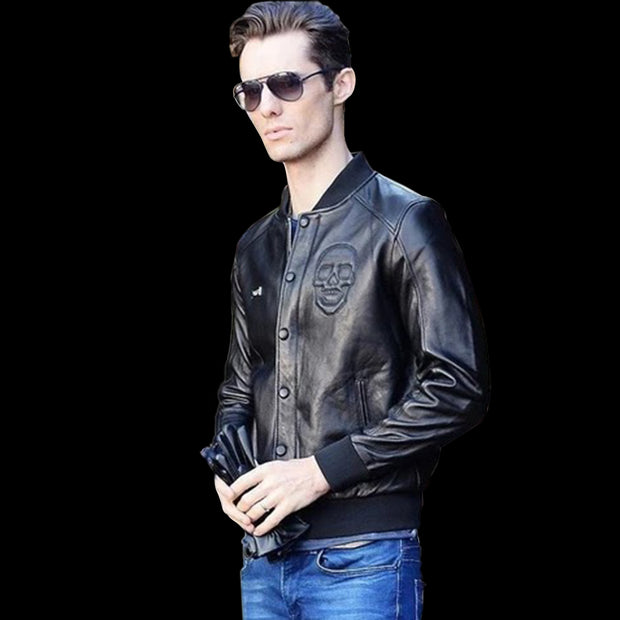 Classic Skull Jacket | Mens Skull Jackets | Bikers Skull Jacket