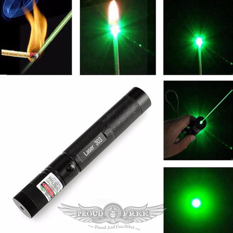 50mw Military Green Laser Pointer Pen + 18650 Battery + Charger