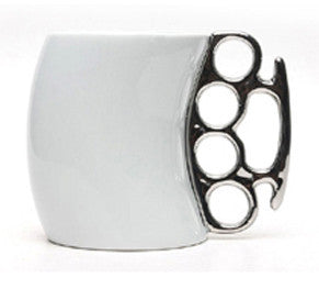 Brass Knuckle-Styled Mug | Brass Knuckles Cup in 2020 | Brass Knuckles Mug
