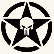 Skull Army Sticker