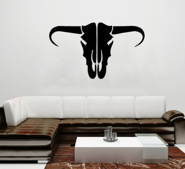 Classic Tribal Bull Stickers (2 pieces - 1 For Each Side)