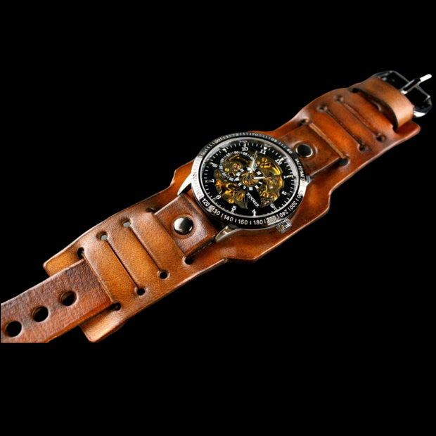 The Renegade Leather Cuff Watch
