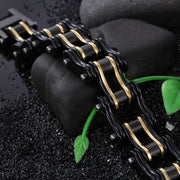 Biker Proud™ Chain Bracelet • Black & Gold | Biker Proud™ Black Chain Bracelet | Biker Proud™ Gold Chain Bracelet