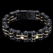 Biker Proud™ Chain Bracelet • Gold Silver Black or Blue | Biker Proud™ Chain Bracelet | Bikers Best Bracelet