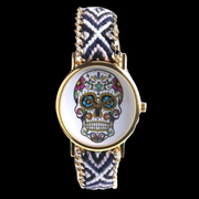 Hand Knit Native Skull Watches