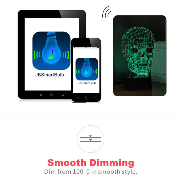 Bluetooth 3D Skull Music Speaker  - Cell phone control