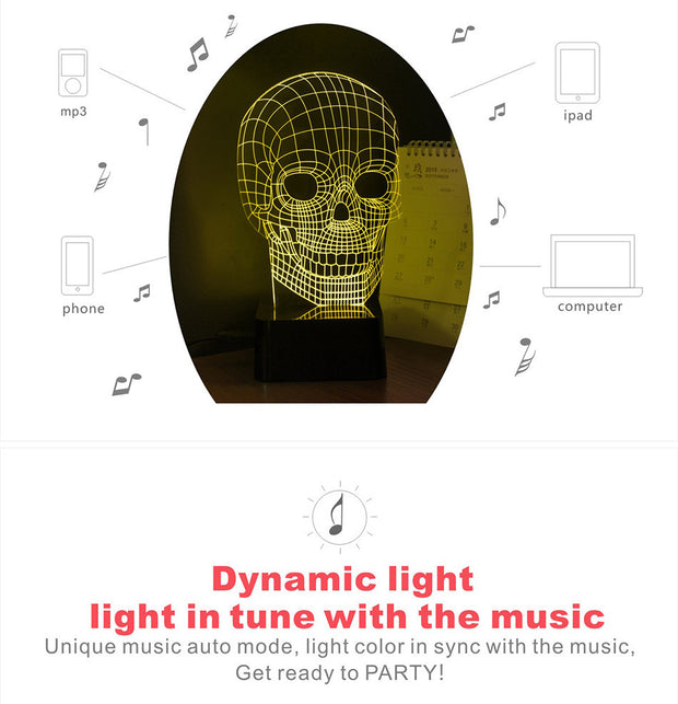 Bluetooth Skull Lamp & Speaker | Bluetooth Skull Speaker | Bluetooth Skull Lamp