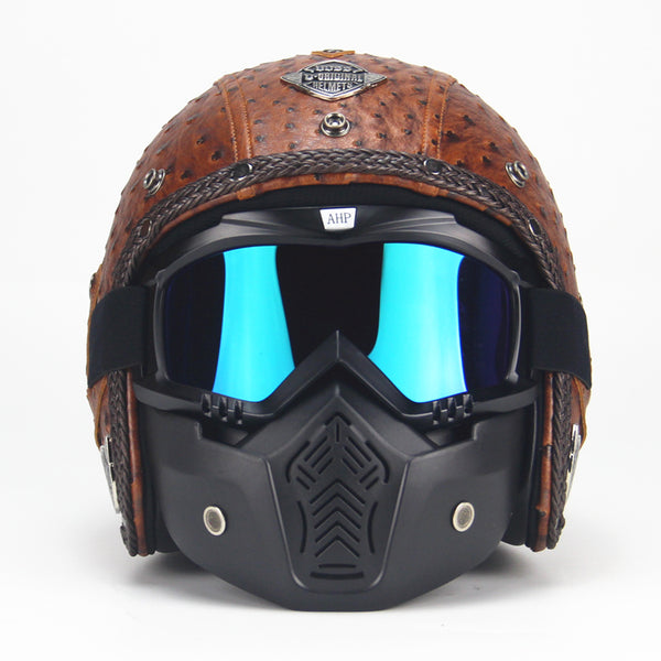 Vintage Leather Helmet