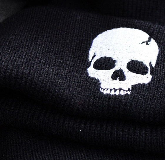 Embroidered Skull Beanies