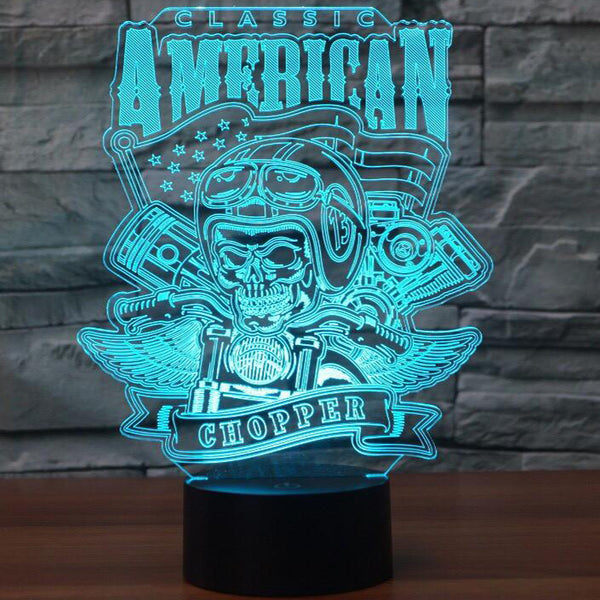 American Chopper 3D Lamp - 8 Changeable Color