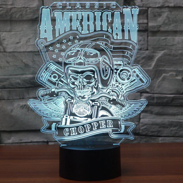 Classic American Chopper 3D Lamp | Chopper 3D Lamp | Classic Chopper 3D Lamp