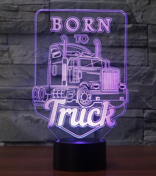 Born to Truck 3D Lamp