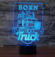 Born to Truck 3D Lamp | Born to Truck 3D Illusion Led Lamp | Truck 3D Illusion Lamp