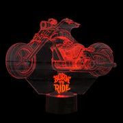 Born to Ride 3D Lamp | 3D Illusion Lamp | Cool Born to Ride 3D Lamp