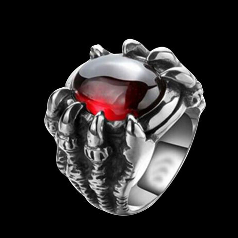 OVALE RUBY DRAGON CLAW RING