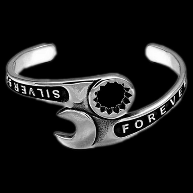 Wrench Bangle Bracelet