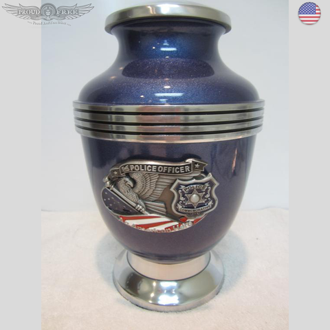THE POLICE CREMATION URN - BLUE