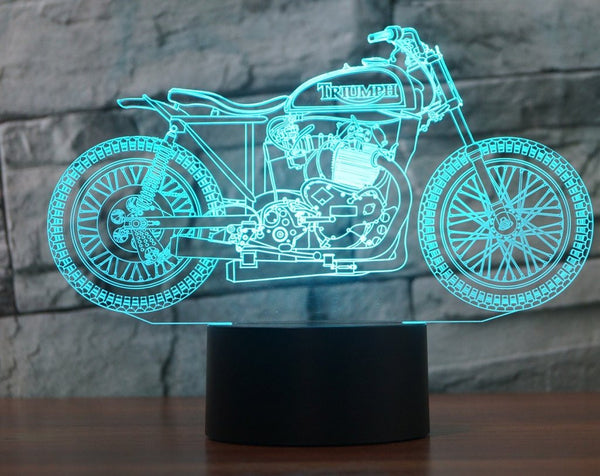 TRIUMPH 3D Lamp - 8 Changeable Color