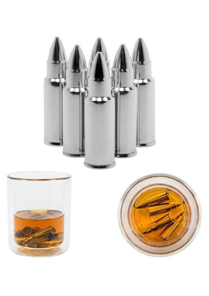 Bullet Whiskey Stones - Chills Drinks - 304 Stainless Steel - 5 pieces/lot