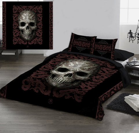 SKULL Duvet Cover Set - Double Bed Size