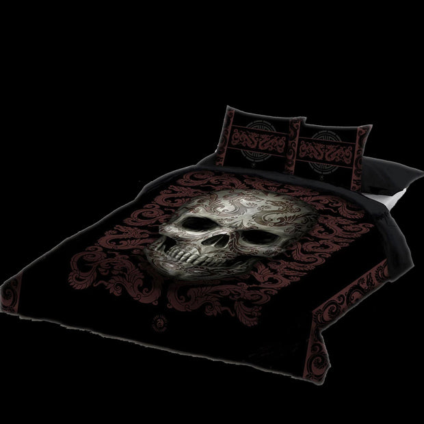 Skull Duvet Cover Set DBL