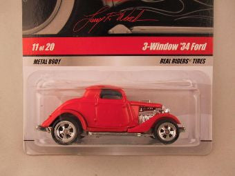 Hot Wheels Larry's Garage 2009, 3-Window '34 Ford, Red