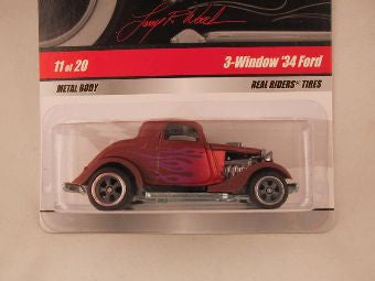 Hot Wheels Larry's Garage 2009, 3-Window '34 Ford, Brown with Flames