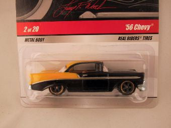 Hot Wheels Larry's Garage 2009, '56 Chevy, Black/Yellow