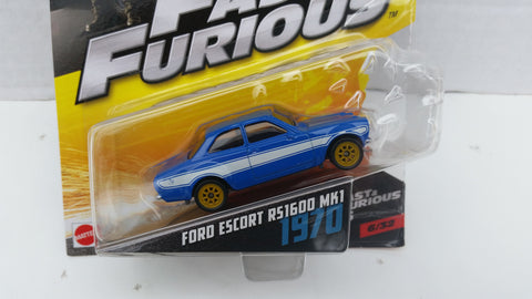 Hot Wheels Fast and Furious 1:55 Scale, 1970 Ford Escort A51600 MK1