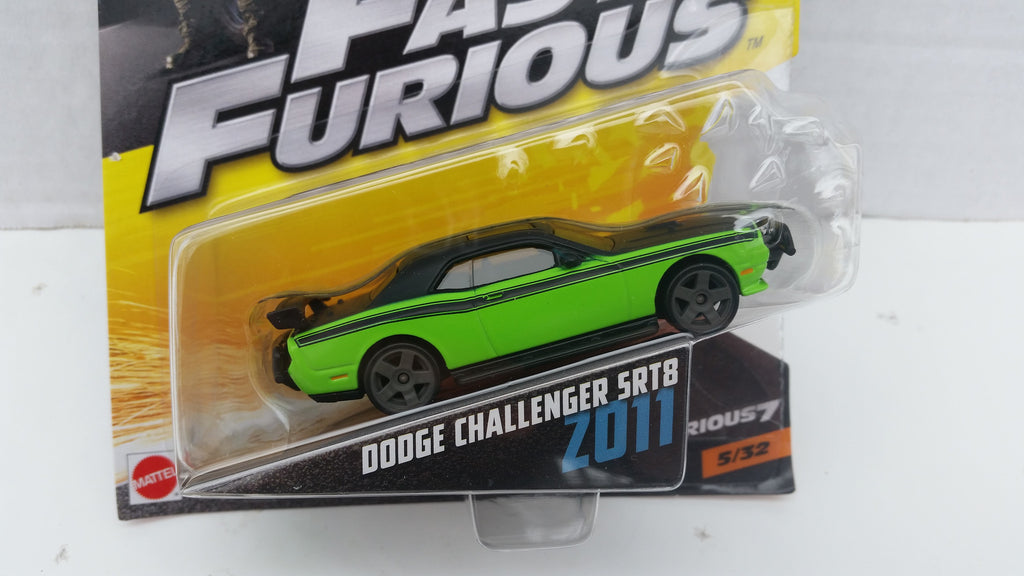 Hot Wheels Fast and Furious 1:55 Scale, 2011 Dodge Challenger 5RT8