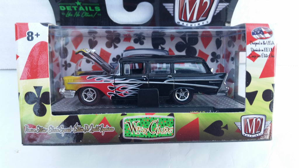 M2 Machines Wild Card Auto-Thentics, Release 12, 1957 Chevrolet 210 Beauville Station Wagon