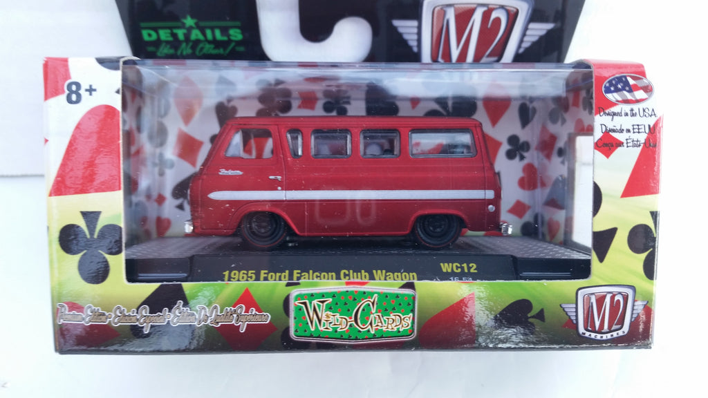 M2 Machines Wild Card Auto-Thentics, Release 12, 1965 Ford Falcon Club Wagon