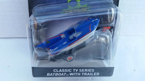 Hot Wheels Batman Vehicles 2017 1:50 Scale, Classic TV Series Batboat with Trailer