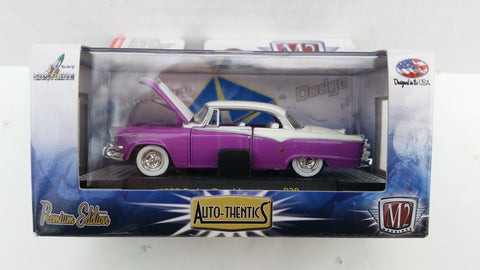 M2 Machines Auto-Thentics, Release 30, 1955 Dodge Royal Lancer, White Roof